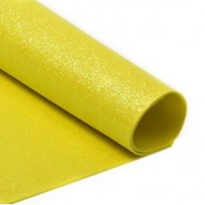 Фоамиран глиттерный Magic 4 Hobby 2 мм MG.GLIT.H047 цв.желтый, 20х30 см