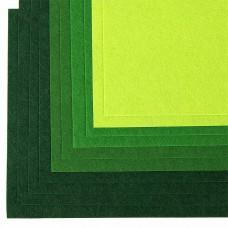 Набор листового фетра (мягкий) IDEAL 1мм 20х30см FLT-SA6 уп.10 листов цв.зеленый ассорти