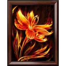Набор для изготовления картин АЛМАЗНАЯ ЖИВОПИСЬ АЖ.1852 «Огненный цветок» 30х40 см