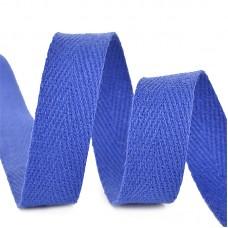 Тесьма киперная 10 мм хлопок 2,5г/см TBY.CT10223 цв.F223 синий василек уп.50м