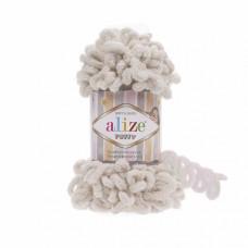 Пряжа для вязания Ализе Puffy (100% микрополиэстер) 5х100г/9.5м цв.599 слоновая кость