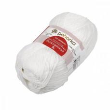 Пряжа для вязания ПЕХ Всесезонная (25% шерсть, 30% хлопок, 45%акрил) 5х100г/320м цв.001 белый
