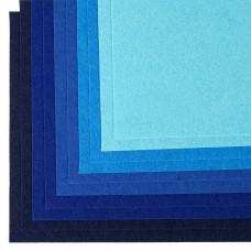 Набор листового фетра (мягкий) IDEAL 1мм 20х30см FLT-SA7 уп.10 листов цв.синий ассорти