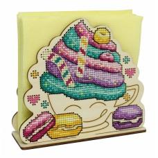 Набор для вышивания Щепка О-023 Салфетница Пирожное 15х5х11 см