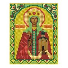 Рисунок на ткани бисер НИТЕКС  9037  Святая Мученица Людмила Чешская 15х21 см