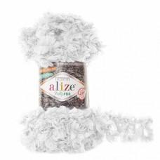 Пряжа для вязания Ализе Puffy Fur (100% полиэстер) 5х100г/6м цв.6100