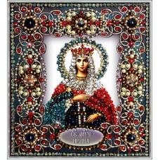 Набор для вышивания хрустальными бусинами ОБРАЗА В КАМЕНЬЯХ  77-И-52 Святая Ирина 14,5х16,5 см