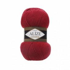 Пряжа для вязания Ализе LanaGold (49% шерсть, 51% акрил) 5х100г/240м цв.056 красный