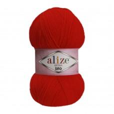 Пряжа для вязания Ализе Extra Life (100% акрил) 5х100г/480м цв.926 красный
