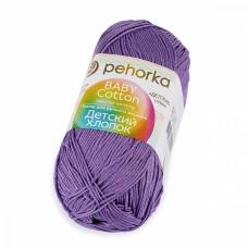 Пряжа для вязания ПЕХ Детский Хлопок (100% Мерсеризированный хлопок) 5х100г/330м цв.346 т.сирень