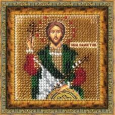 Набор для вышивания Вышивальная мозаика  224ПМИ Икона Св. Муч.Валентин Доростольский 6,5х6,5см