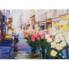 Набор для вышивания PANNA Живая картина ЖК-2021 Цветы Парижа 17,5х24,5 см