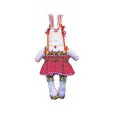 Набор для шитья и вышивания текстильная игрушка МП-24х13- 8007 Зайка Уля-рыжуля