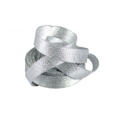 Подарочная лента Парча с3126г17 шир.19мм цв.01 серебро уп.25м