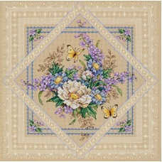 Набор для вышивания Classic Design 4407 Ажурные цветы 33х33 см