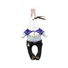 Набор для шитья и вышивания текстильная игрушка МП-24х13- 8004 Зайка Нестор Моряк
