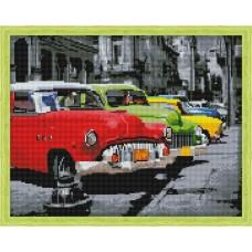 Алмазная вышивка Автомобили ретро QA202723 40х50 тм Цветной