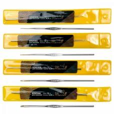 Набор крючков для вязания Maxwell Gold односторонние с золотой головкой MAXW.38641 (0.9 мм/ 1.4 мм/ 2.25 мм/ 3.25 мм)