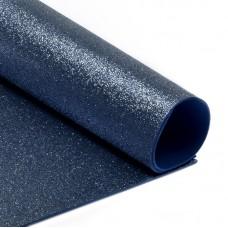 Фоамиран глиттерный Magic 4 Hobby 2 мм MG.GLIT.H021 цв.темно-синий, 20х30 см