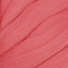 Шерсть для валяния КАМТ Лента для валяния (шерсть п/т 100%) 1х50г/2,1м цв.126 ярк.коралл
