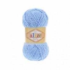 Пряжа для вязания Ализе Softy (100% микрополиэстер) 5х50г/115м цв.040 голубой