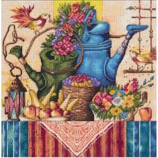 Набор для вышивания PANNA Золотая серия  Н-1995 Натюрморт с лейками 25х25, см