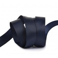 Лента Ideal репсовая в рубчик шир.20мм цв. 372 черно-синий уп.27,42м