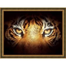Набор для изготовления картин АЛМАЗНАЯ ЖИВОПИСЬ АЖ.1827 «Тигриный взгляд» 40х30 см