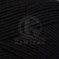 Пряжа для вязания КАМТ Детская забава (20% микрофибра, 80% объемный акрил) 10х50г/140м цв.003 черный