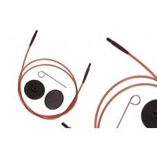 31292 Knit Pro Тросик (заглушки 2шт, ключик) для съемных спиц Ginger, длина 28см (готовая длина спиц 50см), коричневый