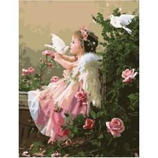 Картины по номерам Поцелуй ангела MG518 40х50 тм Цветной