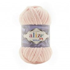 Пряжа для вязания Ализе Velluto (100% микрополиэстер) 5х100г/68м цв.340 пудра