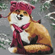 Картины по номерам Molly KHM0046 Забавный лисенок (25 цветов) 30х30 см