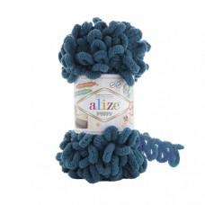 Пряжа для вязания Ализе Puffy (100% микрополиэстер) 5х100г/9.5м цв.646 петроль