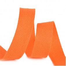 Тесьма киперная 15 мм хлопок 2,5г/см TBY.CT15157 цв.F157 оранжевый уп.50м
