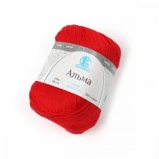 Пряжа для вязания КАМТ Альма (100% хлопок) 5х50г/170м цв.046 красный