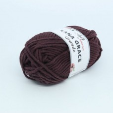 Пряжа для вязания ТРО LANA GRACE Grande (25% мериносовая шерсть, 75% акрил супер софт) 5х100г/65м цв.1597 ежевика