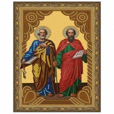 Картина 5D мозаика с нанесенной рамкой Molly KM0806 Святые Апостолы Петр и Павел (12 цветов) 20х30 см