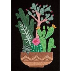 Набор для вышивания PANNA Живая картина  ЖК-2134 Кактусы в горшке 12,5х17 см