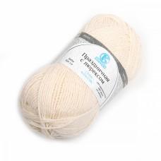 Пряжа для вязания КАМТ Праздничная (48% кашмилон, 48% акрил, 4% метанит) 10х50г/160м цв.080 экрю