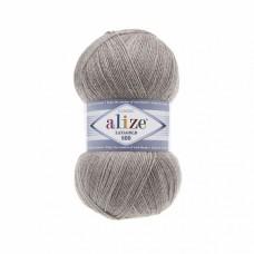 Пряжа для вязания Ализе LanaGold 800 (49% шерсть, 51% акрил) 5х100г/800м цв.207 св.коричневый