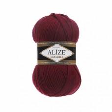 Пряжа для вязания Ализе LanaGold (49% шерсть, 51% акрил) 5х100г/240м цв.057 бордовый
