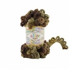 Пряжа для вязания Ализе Puffy color (100% микрополиэстер) 5х100г/9м цв.6086