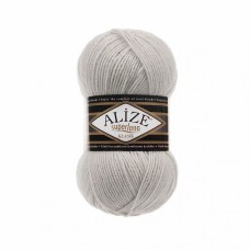 Пряжа для вязания Ализе Superlana klasik (25% шерсть, 75% акрил) 5х100г/280м цв.208 св. серый меланж