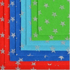 Набор декоративного фетра с глиттером Звезды IDEAL 1,4мм 20х30см FLT-GLP2 уп.8 листов цв.ассорти