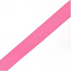 Тесьма TBY в рубчик (шляпная)  TGS20515S шир.20мм цв.розовый  уп.50м