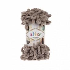 Пряжа для вязания Ализе Puffy (100% микрополиэстер) 5х100г/9.5м цв.530 бежевый