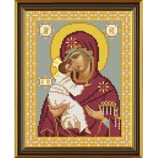 Наборы для вышивания бисером НОВА СЛОБОДА С 9045  Владимирская Божия Матерь 18x23 см
