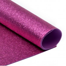 Фоамиран глиттерный Magic 4 Hobby 2 мм MG.GLIT.H033 цв.ярко-розовый, 20х30 см