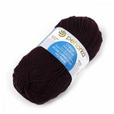 Пряжа для вязания ПЕХ Классическое мулине (30% шерсть, 70% ПАН) 5х100г/200м цв.1256 Бордо/Т.синий